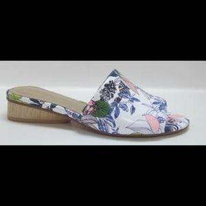 Floral Leather Slide